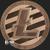 Litecoin Cryptocurrency Copper Bullion round 1 oz .999 fine Obverse