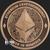 Ethereum Cryptocurrency Copper Bullion round 1 oz .999 fine Obverse
