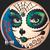 Golden State Mint - Del Dia La Muerte Colorized Copper round 1 oz Obverse