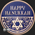 Golden State Mint - Happy Hanukkah Colorized Copper round 1 oz Obverse