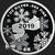 Golden State Mint Merry Christmas Manger Scene 1 oz Silver Round .999 Fine Reverse