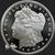 5 oz Morgan Silver Bullion .999 fine silver round Obverse