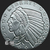 1/4 oz Silver Incuse Indian bullion obverse