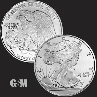 Walking Liberty 1/4 oz Silver Coin