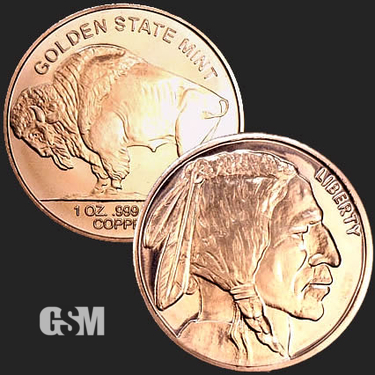 Buffalo 1 oz Copper Coin