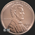 Lincoln Wheat Penny 1 oz Copper BU .999 Fine Obverse