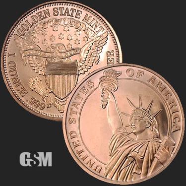 Statue of Liberty 1 oz Copper Coin