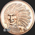 Cheif Red Cloud copper round front 1 oz
