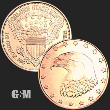 Eagle Head 1/2 oz Copper Coin