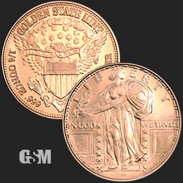Standing Liberty 1/4 oz Copper Coin