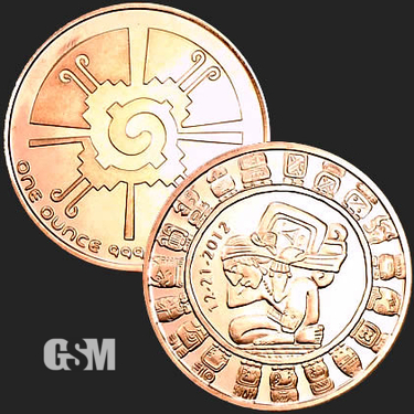 Aztec 1 oz Copper Coin