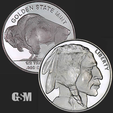 Buffalo 1/2 Silver Coin