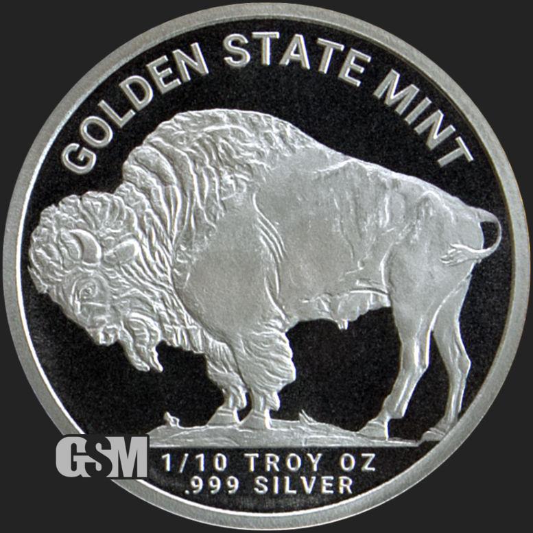 1//10 oz Buffalo Round Silver