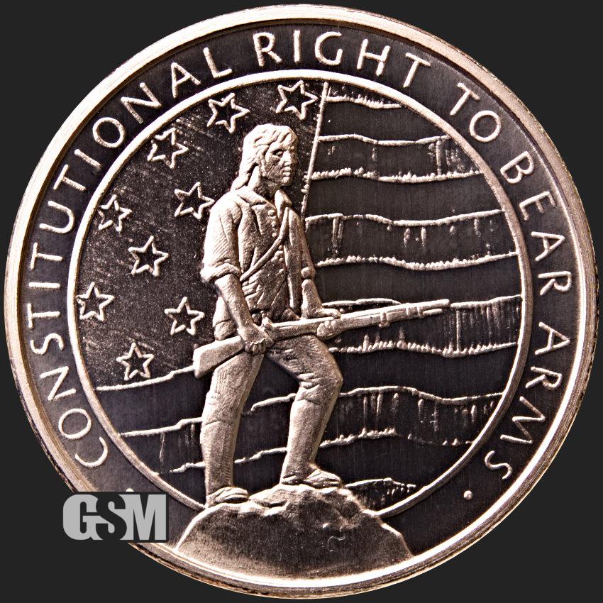 Don/'t Tread On Me 1 oz .999 Copper BU Round USA Coin Patriot Second Amendment