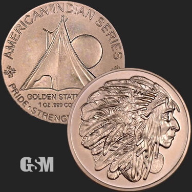 Sitting Bull 1 oz Copper Coin