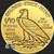 1/10 oz Incuse Indian Gold round back