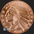 Copper Incuse Indian 5 oz round Obverse