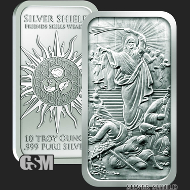 Jesus Clears the Temple 10 oz Silver Bar