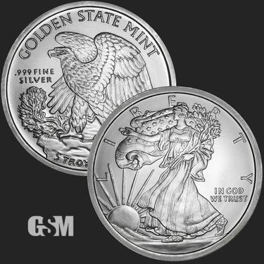 Walking Liberty 5 oz Silver Coin