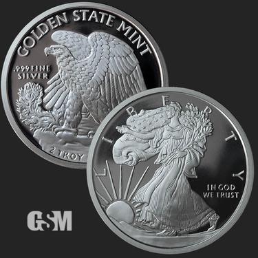 Walking Liberty 2 oz Silver Coin