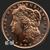 1 oz Morgan Copper Bullion Round .999 Fine obverse (front)