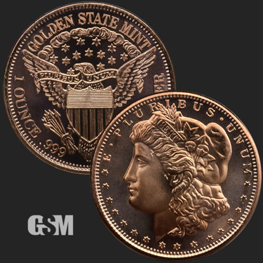 Morgan 1 oz Copper Coin