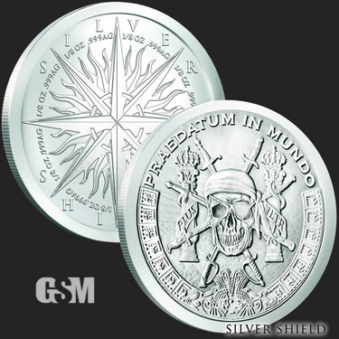 Pieces of Eight 1 oz Silver Shield Coin