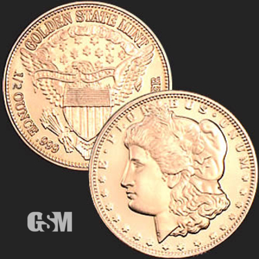 Morgan 1/2 oz Copper Coin