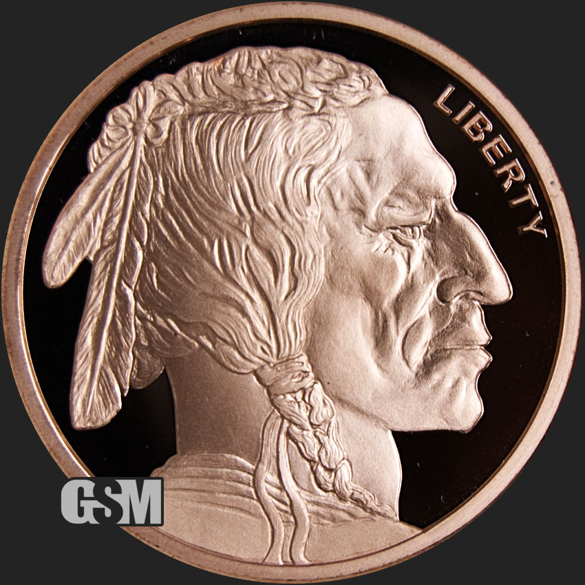100 Coins Incuse Indian 1//2 oz .999 Copper Bullion Rounds
