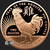 2 oz Copper Bullion Year of the Rooster Round .999 Fine Obverse