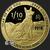 1/10 oz GSM Year of the Dog Gold Bullion Round .999 Fine Obverse
