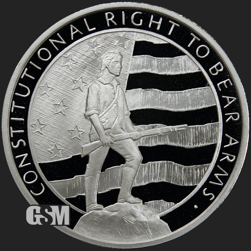 2nd Ammendment American Silver Eagle 1oz .999 Limited Edition Silver Dollar Coin