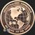Bitcoin Cryptocurrency Copper Bullion round 1 oz .999 fine Reverse