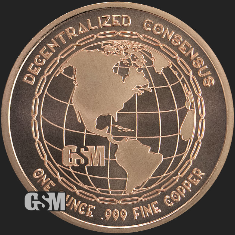 Cryptocurrency Collection Litecoin 1 oz .999 Copper USA Made BU Bullion Round