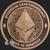 Ethereum Cryptocurrency Copper Bullion round 1 oz .999 fine Obverse