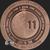 1 oz Apollo 11 50th Anniversary .999 Fine Copper Bullion Reverse