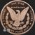 5 oz Morgan copper round .999 fine copper Golden State Mint Reverse