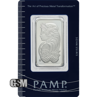 1 oz Platinum Bar Pamp