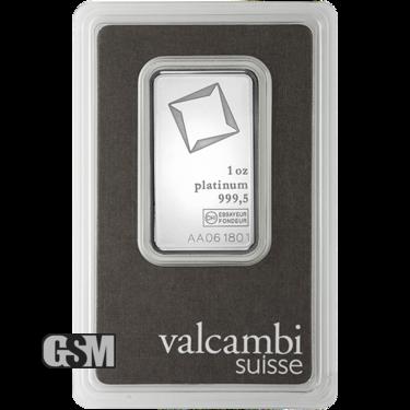 1 oz Platinum Bar Valcambi