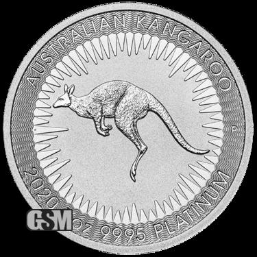 2020 1 oz Australian Platinum Kangaroo