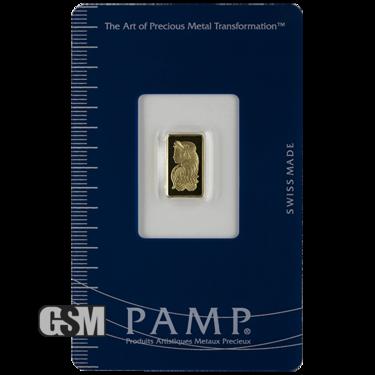 1 Gram Gold Bar Pamp