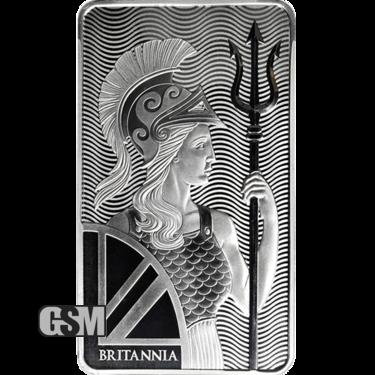 100 oz Silver Bar Royal Mint Britannia
