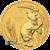 2020 2 oz Perth Mint Gold Mouse obverse