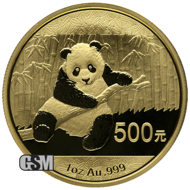1 oz Chinese Gold Panda (in Plastic)