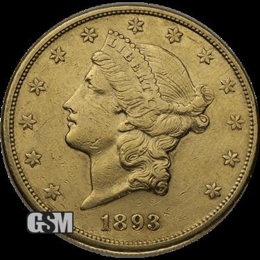 $20 U.s. Gold Liberty Vf