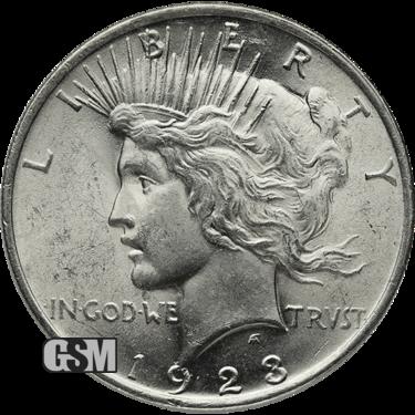 American Silver Peace Dollar Bu