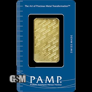 1 oz Gold Bar Pamp .9999 Fine