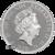 2019 10 oz British Silver Queens Beast Unicorn Reverse