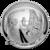 2019 5 oz Silver Apollo 11 50th Anniversary Commemorative Proof Silver Dollar Obverse