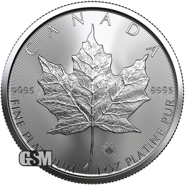 2020 1 oz Canadian Platinum Maple Leaf